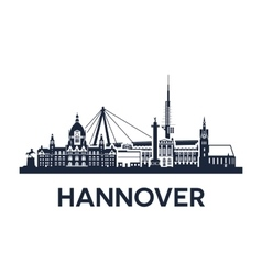 hannover city skyline vector image