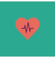 Heart with cardiogram vector