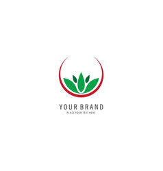 herbal spa symbol logo vector image