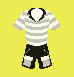 Icon in flat design fashion clothes shorts and vector