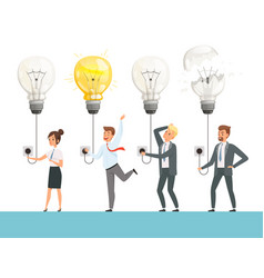 idea bulb concept business startup picture smart vector image