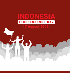 Indonesia merdeka vector
