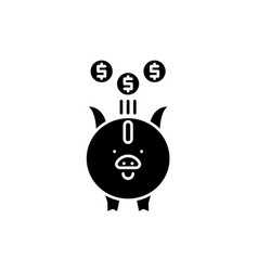 investment black icon sign on isolated vector image