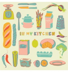 Kitchen seamless pattern vector