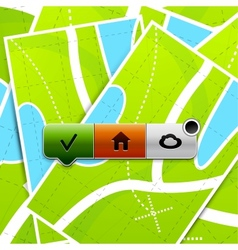 Location buttons vector image