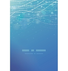 Magical underwater bubbles vertical template vector image