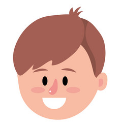 man face smiling cartoon vector image