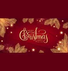 merry christmas shining holiday background vector image