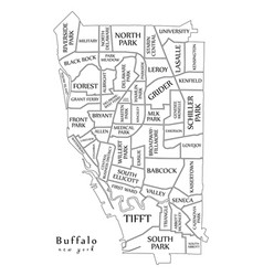 modern city map - buffalo new york city of the vector image