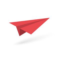 paper origami plane vector image