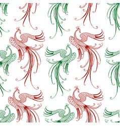 pattern of the fabulous flying birds vector image