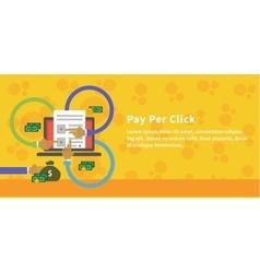Pay Per Click Design Concept Style vector