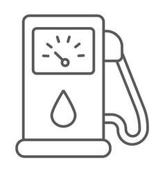 petrol thin line icon fuel and gasoline gas pump vector image