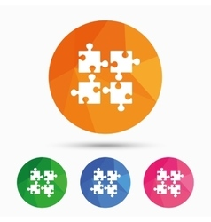 Puzzles pieces sign icon Strategy symbol vector image