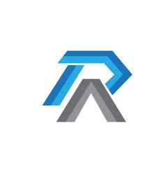 r a modern logo designs vector image
