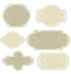 Retro beige vintage labels vector image