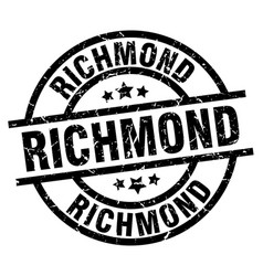 Richmond black round grunge stamp vector