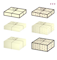 set of boxes on the white background vector image