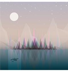 Smooth polygonal landscape design vector image