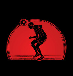 soccer player bouncing a ball action vector image
