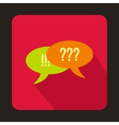 Speech bubbles question and exclamation marks icon vector image