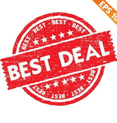 Stamp sticker best deal collection - - EPS1 vector image