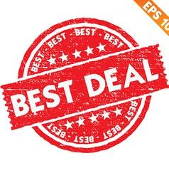 Stamp sticker best deal collection vector