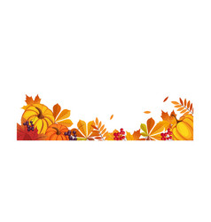 thanksgiving banner with space for text vector image