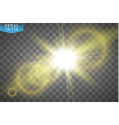 Transparent sunlight special lens flare light vector