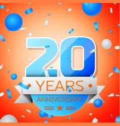 Twenty years anniversary celebration vector