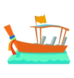Water taxi icon cartoon style vector