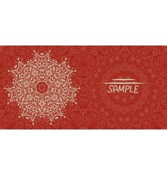 Wedding or invitation card design made of tribal vector image vector image