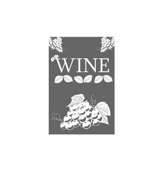 wine label template for logo signage vector image
