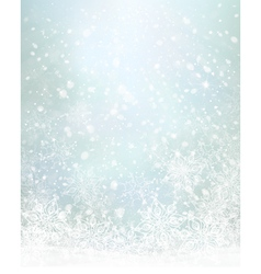 winter blue snowflakes background vector image