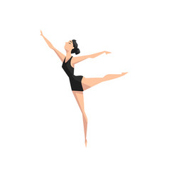 young professional ballerina dancing classical vector image