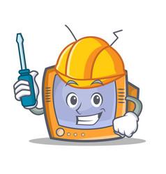 Automotive tv character cartoon object vector