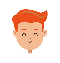 cartoon character face boy children vector image