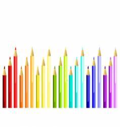 coloured pencils stairway vector image