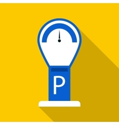 Parking meter icon flat style vector