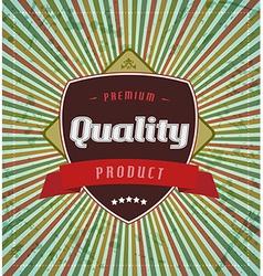 Retro vintage label on stripe background vector image