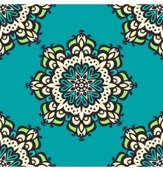 Seamless mandala pattern Hand drawn background vector image