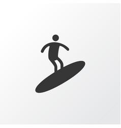 surfing icon symbol premium quality isolated vector image