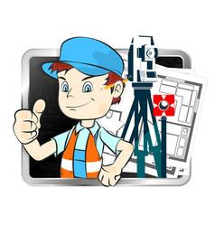 Surveyor with a tool vector