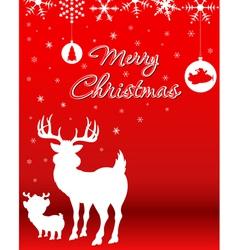 Christmas Background With Reindeer Baby Reindeer vector image vector image