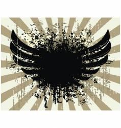 grunge wings vector image