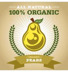 Organic Pear vector image vector image