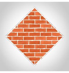 Romb made of bricks vector image vector image