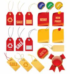 set of price tags vector image