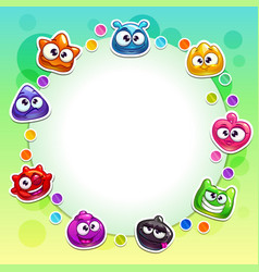 cute background with funny colorful jelly vector image vector image