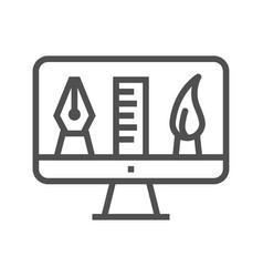graphics tools line icon vector image